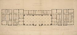 CUSTOM HOUSE, LONDON, PLAN OF THE GROUND FLOOR